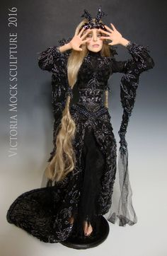 "OOAK ""ONYX"", a One of a Kind Art Doll sculpture by Victoria Mock - pinned by pin4etsy.com"