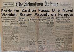The Johnstown Tribune - World War II: October 13, 1944: Battle for Aachen Rages
