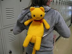 Kitty Mini Backpack   - Knitting, sewing, crochet, tutorials, children crafts, jewlery, needlework, swaps, papercrafts, cooking and so much more on Craftster.org