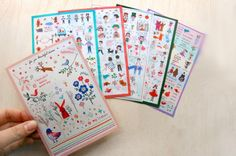set of 6 sheets cute cartoon very berry deco Korean by JaliceArt