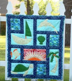 Ocean Baby Quilt by MadewithLovebyLyn on Etsy, $120.00