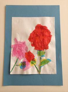 ちぎったり、ねじったり、さまざまな花紙の感触を楽しんで作る手作りのお花。 花紙の特徴や色に注目するとより楽しめる! ありがとうの気持ちをこめて、母の日のプレゼントに◎