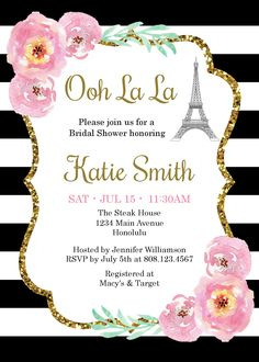 Kate brunch and bubbly bridal shower invitation template spade bridal shower advice cards advice for the bride black stopboris Image collections