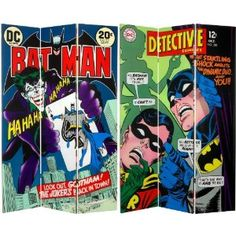 Amazon.com: Oriental Furniture 6-Feet Tall Double Sided Batman and The Joker Canvas Room Divider: Home & Kitchen