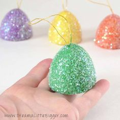 5.) These giant, glittery gumdrops will add a pop of color to your tree.