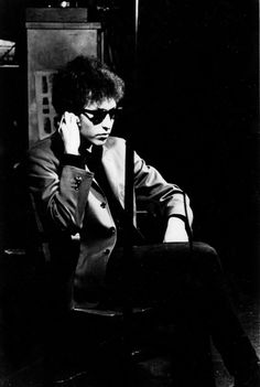Bob Dylan at Andy Warhol's Factory in New York, 1965.
