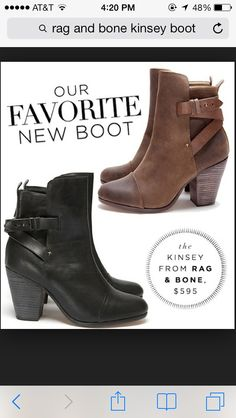 I may have to buy these in both colors bc I'm obsessed!!! On sale in stores and online #ragandbone #kensieboot