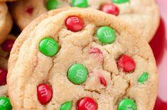Easy Christmas M&M Cookies
