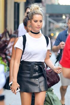 ASHLEY TISDALE Out and About in New York 07/27/2016