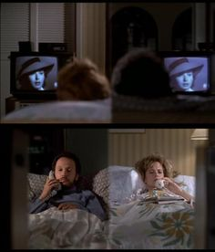 Phone conversation while both watching Casablanca at the same time. Harry and Sally have such good taste.