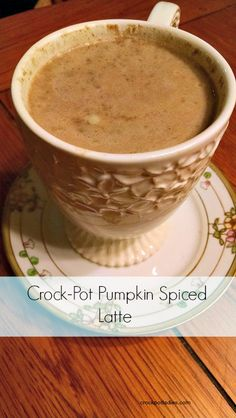 Crock-Pot Pumpkin Pie Spiced Latte - A simple and easy recipe for making your own pumpkin latte at home so you can skip the high cost of coffee shop lattes.