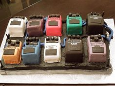 Pedal-board Cake  #pedals #cake #pedalboard