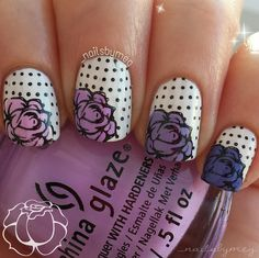 Nailpolis Museum of Nail Art | Ombre Roses by _nailsbymeg