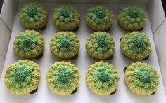 Green ombré cupcakes