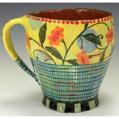 Nancy Gardner Ceramics. Hand built, hand decorated.