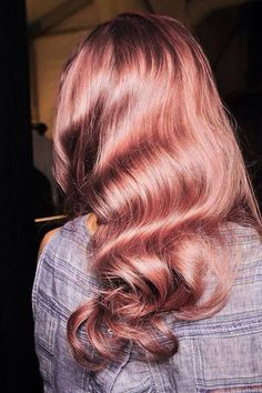 Beautiful Hair Color Inspiration 50 Rose Gold Hair Ideas - Beauty of Wedding Curls Haircut, My Hairstyle, Pretty Hairstyles, Wedding Hairstyles, Holiday Hairstyles, Party Hairstyle, Perfect Hairstyle, Fashion Hairstyles, Homecoming Hairstyles