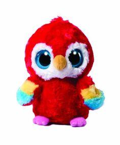 YooHoo & Friends Plüschtier Papagei, roter Vogel Lora, Kuscheltier ca. 13 cm