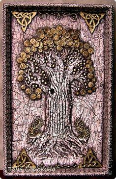 Мастер-класс Поделка изделие Ассамбляж Дерево богатства Мастер-класс Бумага Салфетки фото 1