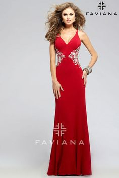 Faviana 7756 dress for your next formal event at The Castle. We are an authorized retailer for all Faviana dresses and every 7756 is brand new with all original tags! Senior Prom Dresses, Prom Dresses 2016, Designer Prom Dresses, Prom Dresses For Sale, Prom Dresses Online, Evening Dresses, Formal Dresses, Formal Wear, Prom 2016