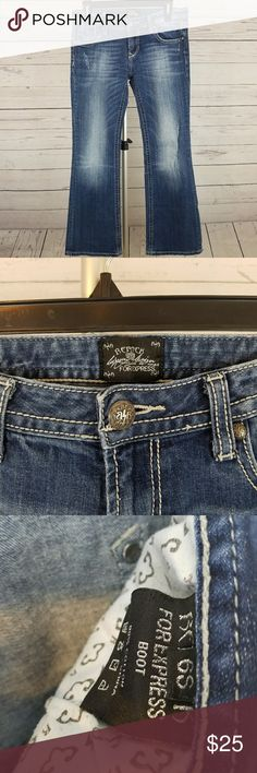 Rerock For Express Jeans Size 6S This is a stylish pair of Rerock For Express boot cut jeans in size 6S. Rerock For Express Jeans Boot Cut