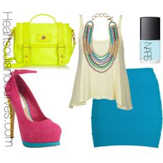"""""""Colorblocking With Accessoires"""" by adoremycurves on Polyvore"""