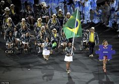 It isn't a party until the hosts arrive! Brazil took its place at last in the line as is tradition; they will be looking to do their nation proud after what has been a horrible run-up