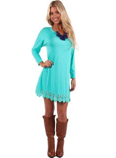 Lime Lush Boutique - Mint Dress or Top with Lace Bottom, $39.99 (http://www.limelush.com/mint-dress-or-top-with-lace-bottom/)