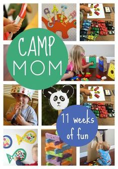 Toddler Approved!: Camp Mom: Host your own Summer Camp At Home. Here are 11 fun themes along with activities to try.