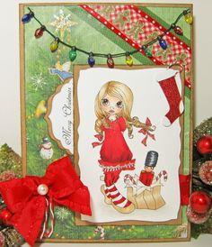 Saturated Canary Christmas Nutcracker card