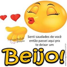 MENSAGENS DE CARINHO: Senti saudades Good Morning Kisses, Peace Love And Understanding, Emoji Love, Smiley Emoji, My Emotions, Line Sticker, Man Humor, Peace And Love, Inspirational Quotes