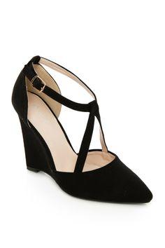 ShopSosie Style : V Strap Wedge Heel