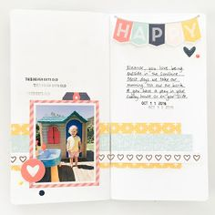 Happy Traveler's Notebook Page by Mandy Melville | @FelicityJane