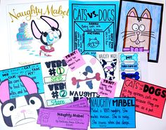 Naughty Mabel Picture Book:  Students learn about Cats vs Dogs, Character Traits, and Shades of Meaning
