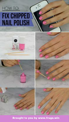 Chipped nail polish is the worst, there is no doubt about it. Surely it's almost purely for this reason, try out this little trick instead … It works absolute wonders! Sns Nails, Nail Manicure, Manicures, Fashion And Beauty Tips, Beauty Tips For Skin, Beauty Secrets, Chipped Nail Polish, Nail Lab, No Chip Nails