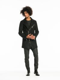 Herringbone Biker Coat | Jackets | Men Clothing at Scotch & Soda