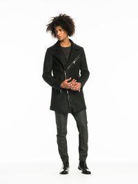 Herringbone Biker Coat | Jackets | Men Clothing at Scotch & Soda