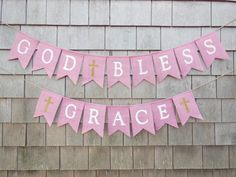 First Communion Banner, Custom Personalized Baptism Banner Garland, God Bless Bunting, First Communion Burlap Garland, Baptism Burlap Banner First Communion Banner, Baptism Banner, First Communion Dresses, Baby Baptism, Baptism Party, First Holy Communion, Communion Banners, First Communion Decorations, Baptism Ideas