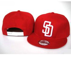 New Era MLB San Diego Padres Red Snapback Hats Caps 3929! Only $8.90USD