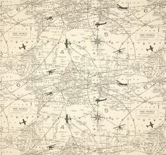 Renaissance man world map mapping skills cotton fabric print by gray beige fabric air traffic print by twistedbobbinfabrics publicscrutiny Gallery