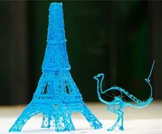 Amazing! Draw 3D pictures with the 3Doodler! This pen melts plastic wires and oozes them out similar to a hot glue gun. The plastic cools so quickly that you can draw on thin air! Watch the video on the official 3Doodler website and see for yourself!
