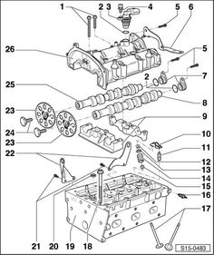 Volkswagen Workshop Manuals > Polo Mk5 > Power unit > 3-cylinder injection engine (4-valve) > Engine cylinder head, valve gear > Cylinder head > Assembly overview