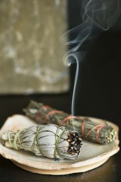 Burning sage in my home. Takes away negative energy and restores balance & calm.