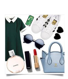 """Untitled #361"" by lraecap ❤ liked on Polyvore featuring adidas Originals, Chanel, Dollydagger, Dolce&Gabbana and shirtdress"