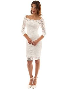 PattyBoutik Women's Off Shoulder Twin Set Floral Lace Dress * You can get additional details at http://www.amazon.com/gp/product/B01EA8CIR0/?tag=passion4fashion003e-20&wx=110816193929