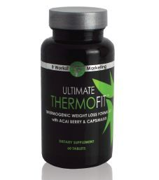 Fire up your metabolism with this naturally based, thermogenic weight loss formula! Powered by the antioxidant superfood acai berry and the metabolism-boosting properties of Capsimax® (red hot pepper blend), Ultimate ThermoFit helps to:   • Thermogenic weight loss formula  • Antioxidant benefits of acai berry  • Promotes increased calorie burning  • Helps boost metabolic rate  • Reduces appetite  • Provides energy
