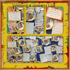 Thanksgiving activity, writing list lesson