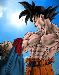 Dragon ball z  Goku vs. Superman