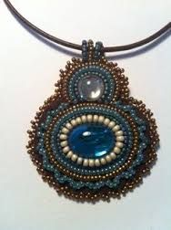 Image result for beaded cabochon pendant