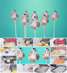 How to Make Star Wars BB-8 Cake Pops