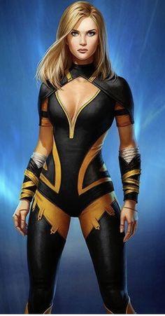 Black Canary from The DC Comic Universe. Héros Dc Comics, Heros Comics, Marvel Heroes, Anime Comics, Female Superhero, Superhero Design, Marvel Girls, Comics Girls, Black Canary